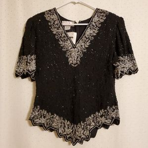 Vintage Laurence Kazar | Beaded Blouse